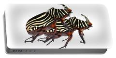 Zebra Pattern Rhinoceros Beetle 2 Portable Battery Charger