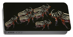 Zebra Pattern Rhinoceros Beetle 3 Portable Battery Charger