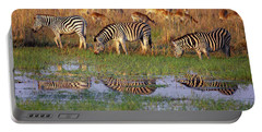Zebras In Botswana Portable Battery Charger