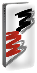 Portable Battery Charger featuring the digital art Zee Paint by Pennie McCracken
