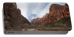 Zion National Park And Virgin River Portable Battery Charger