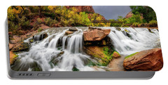 Portable Battery Charger featuring the photograph Zion Park Waterfalls by Michael Ash