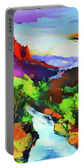 Zion - The Watchman And The Virgin River Portable Battery Charger