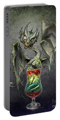 Portable Battery Charger featuring the digital art Zombie Dragon by Stanley Morrison