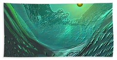 577 -  Ocean World Crystal Green.. Beach Sheet by Irmgard Schoendorf Welch