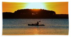 A Reason To Kayak - Summer Sunset Beach Towel