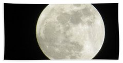 A Winter'sfullmoon Over Ga Beach Towel
