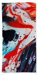 Abstract Original Artwork One Hundred Phoenixes Untitled Number Fifteen Beach Towel