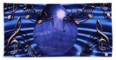 Angelic Sounds On The Waves Beach Towel