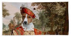 Basenji Art Canvas Print Beach Towel