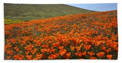 California Poppy Field Beach Sheet by Susan Rovira
