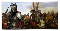 Cane Corso Art Canvas Print - Swords And Bravery Beach Towel