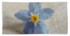 Myosotis 'forget-me-not'- Single Flower Beach Towel