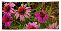 Coneflower Gang  Beach Towel