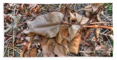 Beach Towel featuring the photograph  Dead Leaves by Michelle Meenawong