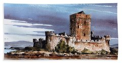 Doe Castle In Donegal Beach Towel