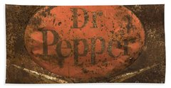 Dr Pepper Vintage Sign Beach Towel by Bob Christopher