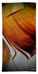 Dried Leaves Beach Towel by Michelle Meenawong