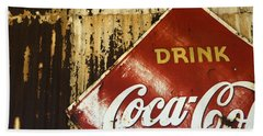 Drink Coca Cola  Memorbelia Beach Towel by Bob Christopher