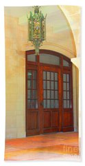 Beach Towel featuring the photograph  Elegant Arched Entrance by Judy Palkimas