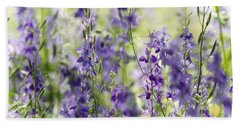 Fields Of Lavender  Beach Sheet by Saija  Lehtonen