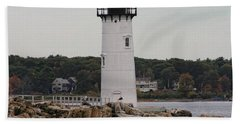 Fort Constitution Light Beach Towel by Denyse Duhaime
