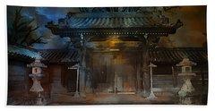 Gate..asian  Moon. Beach Towel