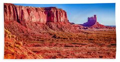 Golden Hour Sunrise In Monument Valley Beach Towel