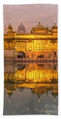 Golden Temple In Amritsar - Punjab - India Beach Sheet