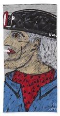 Beach Sheet featuring the painting  Coal Man Joe by Jeffrey Koss