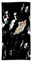 Beach Towel featuring the photograph  Johnny Cash Multiplied  by David Lee Guss