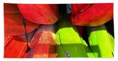 Kayaks Beach Sheet by Michelle Meenawong
