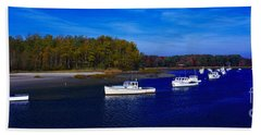Kennnepunkport Harbor  Maine  Beach Towel