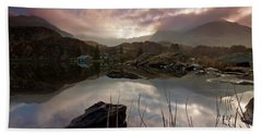 Llyn Ogwen Sunset Beach Towel