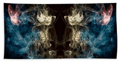Minotaur Smoke Abstract Beach Towel by Edward Fielding