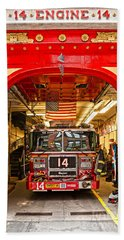 New York Fire Department Engine 14 Beach Towel