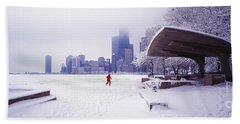 North Ave Beach Chess Palv Chicago Lake Front  Beach Towel
