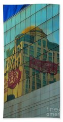 Beach Towel featuring the photograph  Office For Sale by Michelle Meenawong