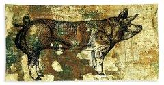 German Pietrain Boar 27 Beach Sheet by Larry Campbell