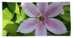 Pink Clematis  Beach Towel