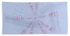 Prime Number Pattern P Mod 30 Beach Towel by Jason Padgett