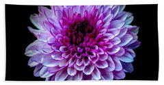 Purple On Black Beach Towel by Michelle Meenawong