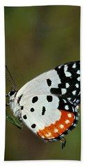 Red Pierrot Butterfly Beach Towel