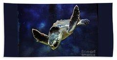 Beach Sheet featuring the photograph  Sea Turtle by Savannah Gibbs