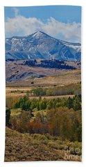 Beach Towel featuring the photograph  Sierras Mountains by Mae Wertz
