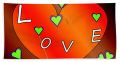 Simple  Love  Heart  - 505  Beach Towel