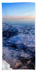 Beach Towel featuring the photograph  Superior Winter   by Doug Gibbons