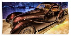 Beach Towel featuring the photograph  Talbot Lago 1937 Car Automobile Hdr Vehicle  by Paul Fearn