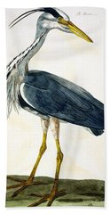 The Heron  Beach Towel by Peter Paillou