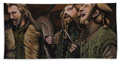 The Hobbit And The Dwarves Beach Towel